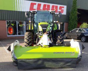 Deze Arion 420 ging samen met deze CLAAS maaier type Corto 3150 F Profil naar een klant in Aalten.